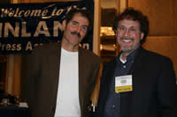 Leigh and John Stossel speaking at Inland Press Association Award's Breakfast in Chicago,Illinois