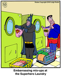 Super Hero Underwear Mixup at the Laundry