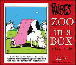 Rubes 2017 Zoo in a Box Calendar