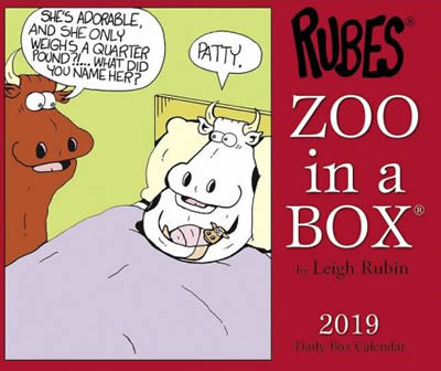 Zoo in a Box Calendar 2019